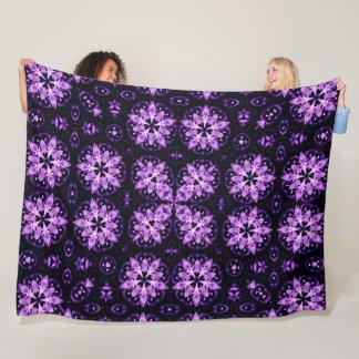 Violet Flame Spirit Mandala Quilt Pattern Fleece Blanket