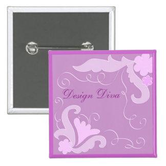 Violet floral buttons