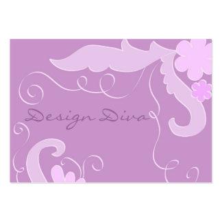 Violet floral business card