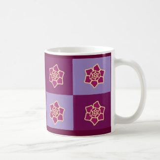 Violet floral coffee mug