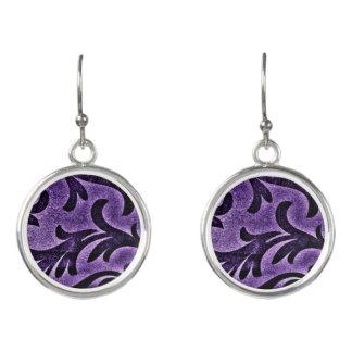 Violet Floral Earrings