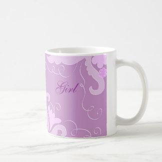 Violet floral mug
