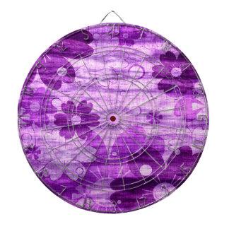 Violet Floral Vintage Dartboard