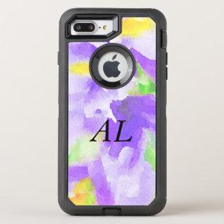 Violet Floral Watercolor OtterBox Defender iPhone 8 Plus/7 Plus Case