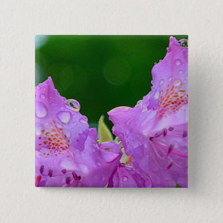 Violet Flower 15 Cm Square Badge