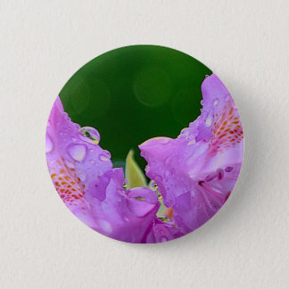 Violet Flower 6 Cm Round Badge