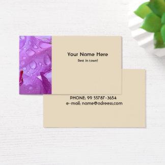 Violet Flower Business Card