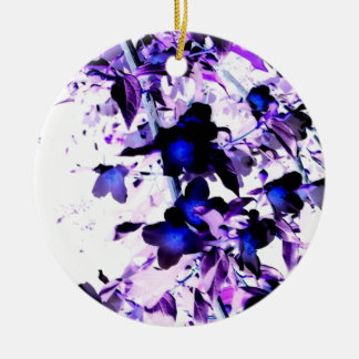 Violet Flower Cascade Christmas Tree Ornaments