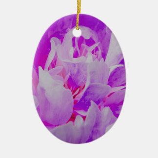 Violet Flower Ceramic Oval Decoration