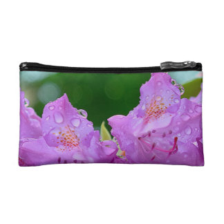 Violet Flower Cosmetic Bag