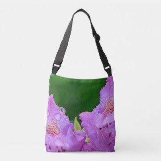 Violet Flower Crossbody Bag