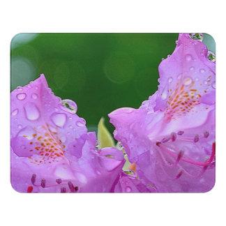 Violet Flower Door Sign