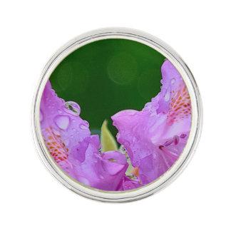 Violet Flower Lapel Pin