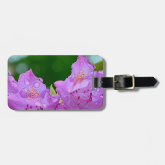 Violet Flower Luggage Tag