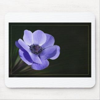 Violet flower mouse pad
