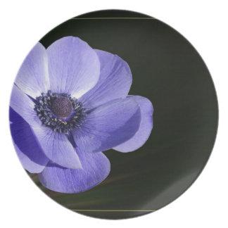 Violet flower plate