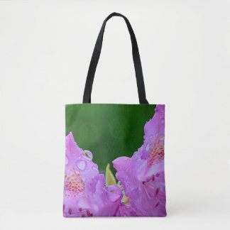 Violet Flower Tote Bag