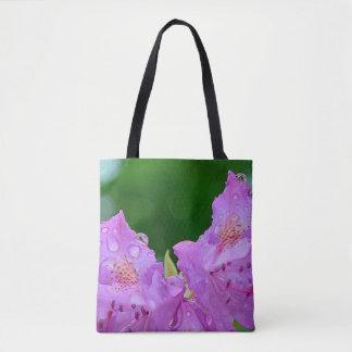 Violet Flower Tote Bag