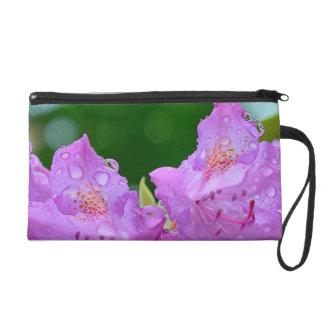 Violet Flower Wristlet