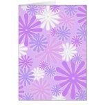 Violet flowers cards