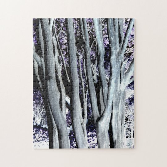 Violet Forest Tree Purple Grey Art Photography Jigsaw Puzzle