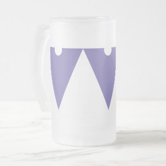 Violet Frosted Glass Beer Mug