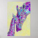 violet giraffes print