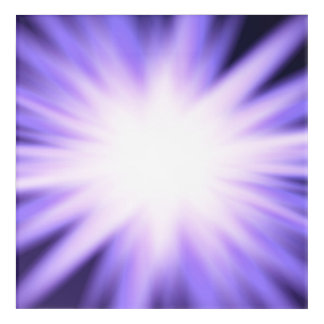Violet glow light effect acrylic print