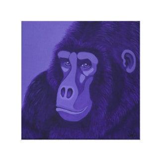 Violet Gorilla Canvas Print