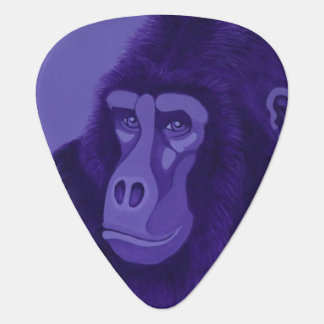 Violet Gorilla Guitar Pick (Dual Sided Image)