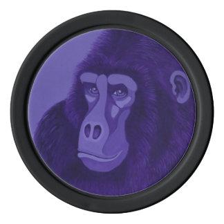 Violet Gorilla Poker Chips