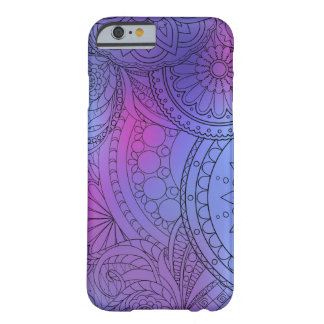 violet gradient zen pattern with sends them barely there iPhone 6 case
