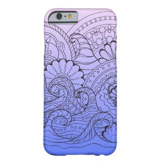 violet gradient zen pattern with waves barely there iPhone 6 case