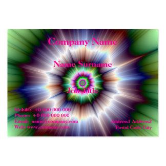 Violet Green and Blue Super Nova Card Business Card Template