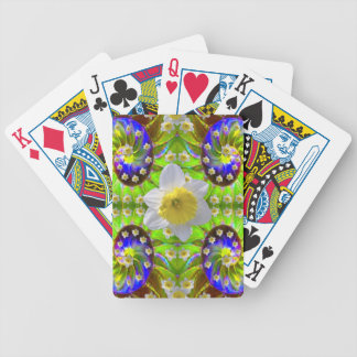 VIOLET GREEN GARDEN  SPIRAL &  DAFFODILS BICYCLE PLAYING CARDS