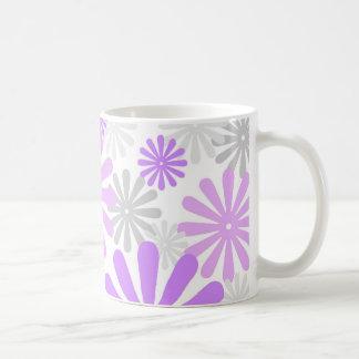 Violet grey florals - Mug