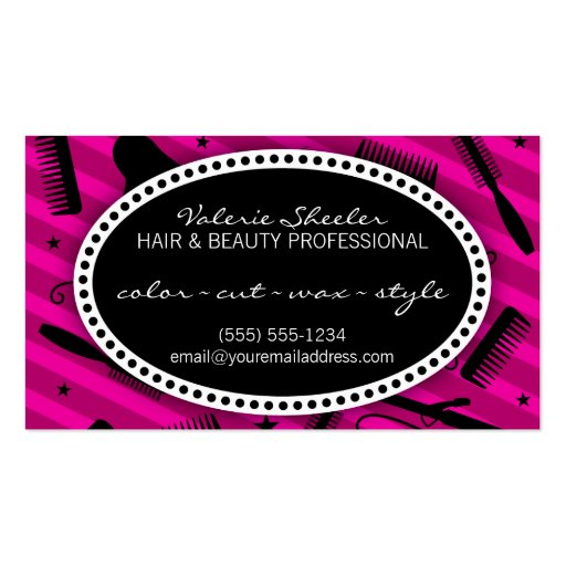 Violet Hair & Beauty Appointment Business Card