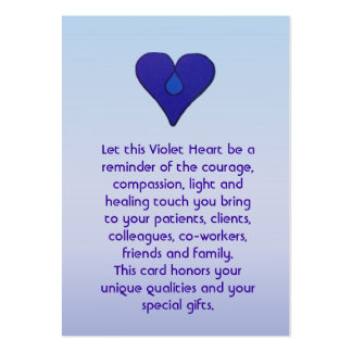 Violet Heart - Caregivers Card Pack Of Chubby Business Cards