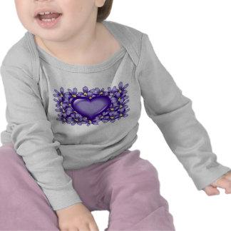 Violet heart t-shirt