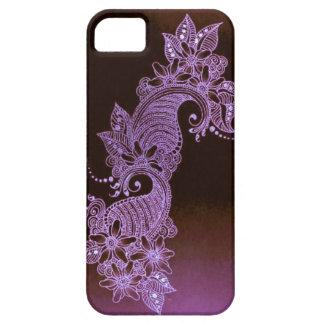 violet henna mehndi floral case