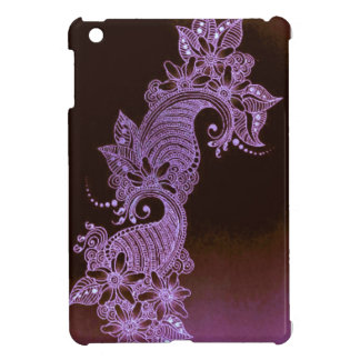 violet henna mehndi floral cover for the iPad mini