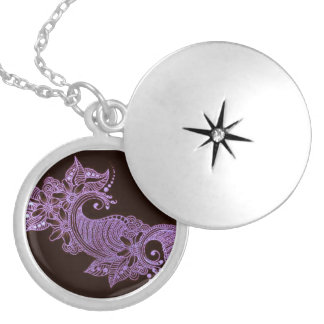 violet henna mehndi floral custom jewelry