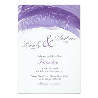 Violet  hoarfrost watercolor wedding card