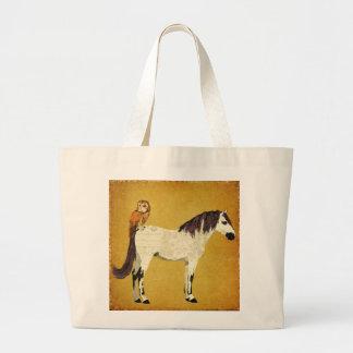 Violet Horse Owl Bag