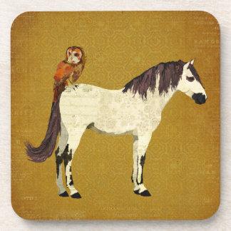 Violet Horse & Owl Coaster