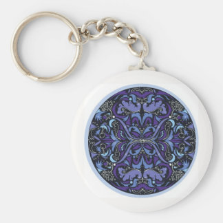 Violet Hour Art Deco keychain