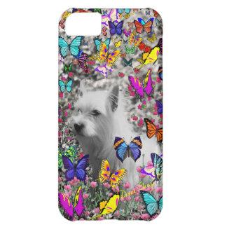 Violet in Butterflies – White Westie Dog iPhone 5C Case