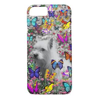 Violet in Butterflies – White Westie Dog iPhone 7 Case