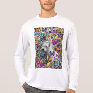 Violet in Butterflies – White Westie Dog T Shirts