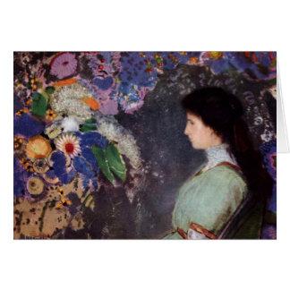 Violet in Flowers Card